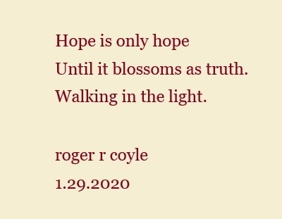 Hope is only hope - Haiku