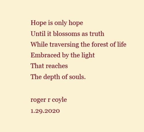 Hope is only hope - Poem