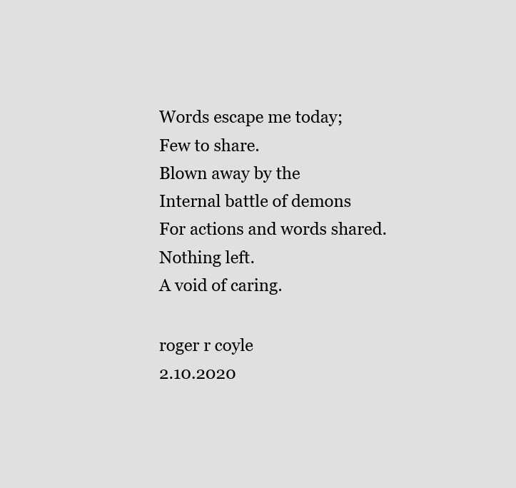 Words Escape Me Today