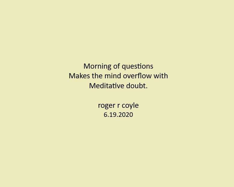 Meditative Doubt