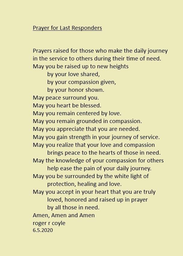 Prayer for Last Responders