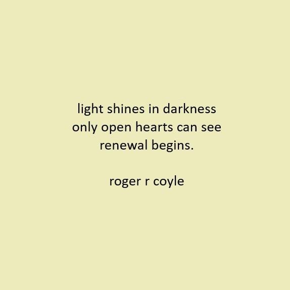 light shines